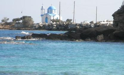 Gialiskari church viewed from messakti beach, Ikaria